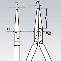 Fladtang med skær (Finmekanikertang)