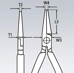Spidstang, rund
