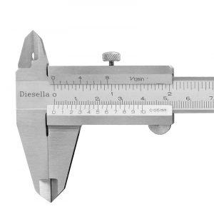 Skydelære m/ skruelås 150 mm