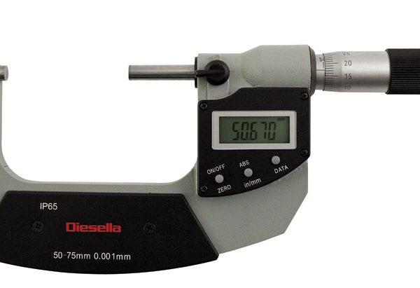 Digitalt mikrometerskrue IP65 0-25 mm