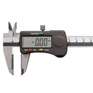Digitalt skydelære med hårdmetal måleflader 0-150 mm