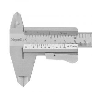 Skydelære m. klemlås 0-150 mm