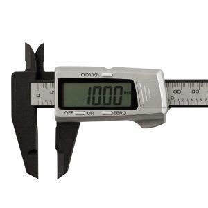 Digital skydelære i carbon fiber 0-150 mm