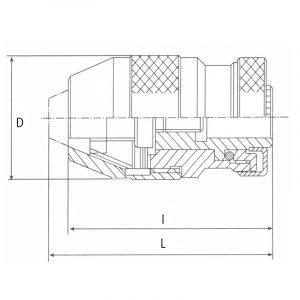 Borepatron 1-16 mm. B16 selvspændende (Heavy duty)
