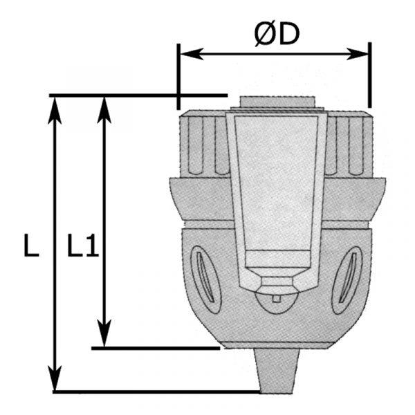 Borepatron 0,8-10 mm m/lås gevind 3/8-24UNF