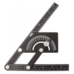 Vinkelmåler justerbar 500 x 230 mm. aluminium