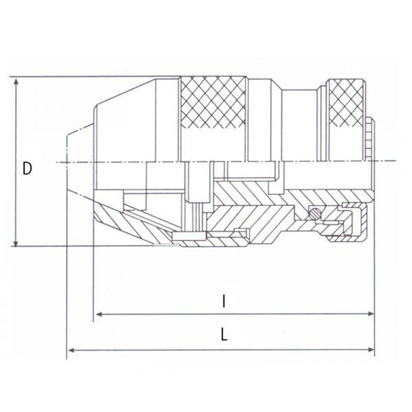 Selvspændende borepatron 1-16 mm