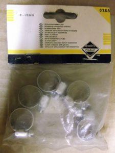 Små Spændebånd 8 - 18 mm. 5 Stk