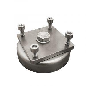 Magnetbeslag Ø80 mm til LED maskinlys 45X45 mm